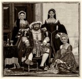 Henry VIII with his ladies in waiting