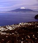 Mt Vesuvius across Naples Bay.