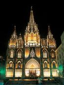 The old Cathedral, Barcelona.