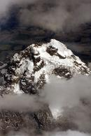 Snow-capped mountain in the Andes, Ecuador.