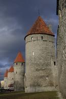 Towers in the old town walls, Tallinn.