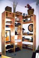 Maple plywood shelves