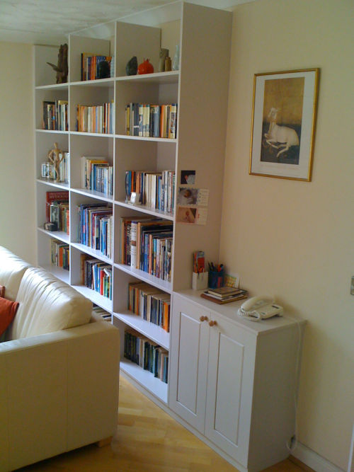 Great Book case in reception room with small cupboard. 500 x 667 · 57 kB · jpeg