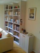 Book case in reception room