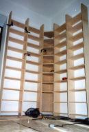 Maple plywood corner bookcase