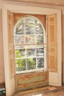 Finished window shutter installation.